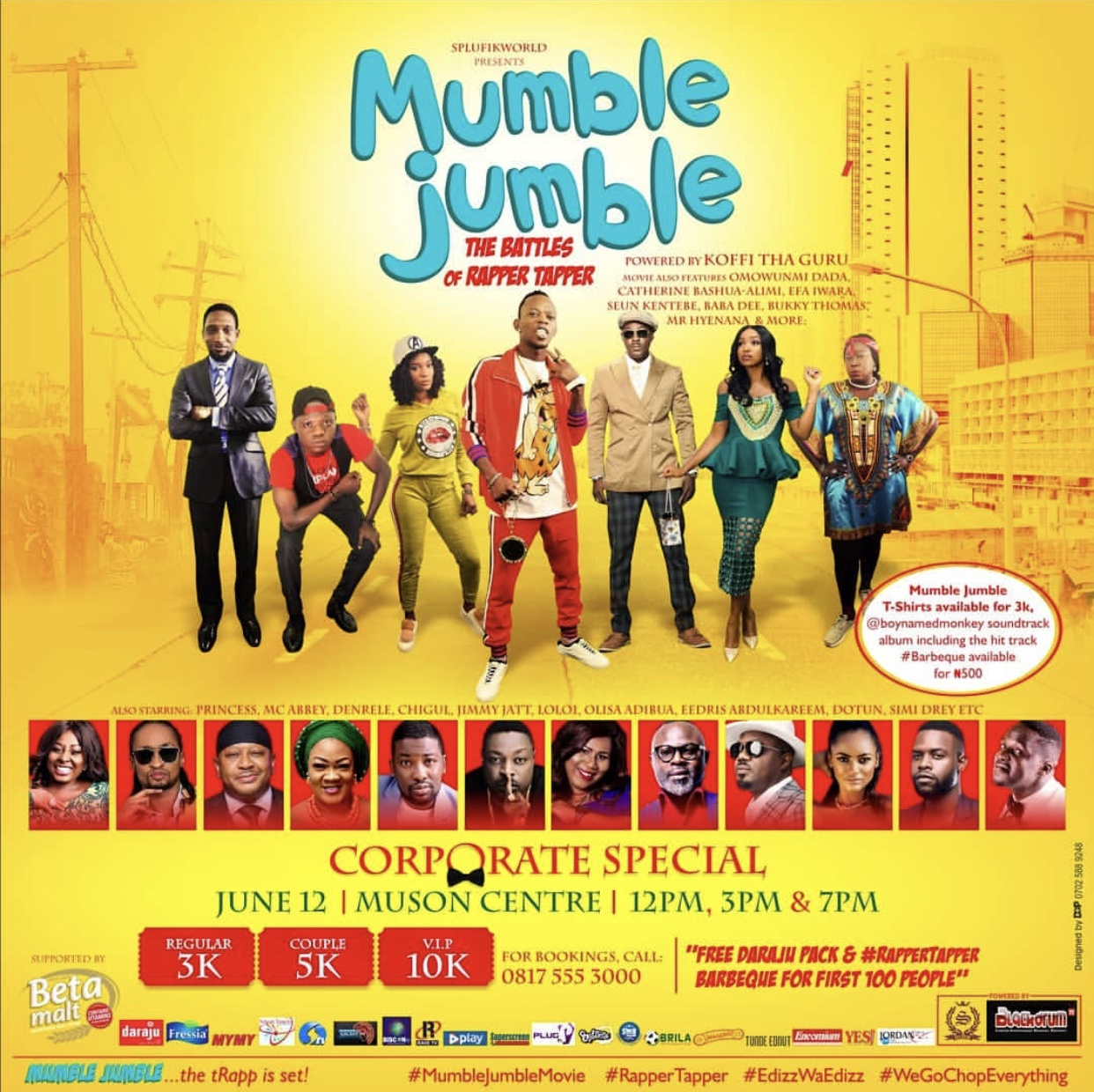 Comedian extraordinaire, Koffi The Guru's Mumble Jumble for premiere